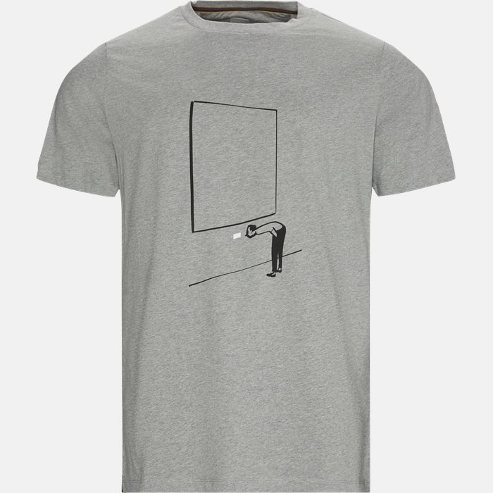T-shirts - Regular fit - Grå